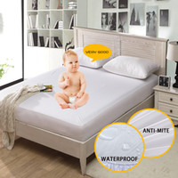наматрасник для постельных принадлежностей оптовых-Waterproof Mattress Pad Single Bed Cover Anti-Mite Mattress Protector Cover Twin Bed Queen couvre lit 1 PC