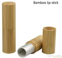 Wholesale professional lipstick balm resale online - 200PCS mm Empty Bamboo Professional Lipstick Tube Silver High Quality Makeup Lip Balm Package Beauty Lip Rouge Containers
