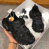 moda ayakkabıları kadın rahat dantel toptan satış-Üçlü S Parça 3.0 Rahat Ayakkabılar Erkek Kadın Sneaker Dantel-Up Karışık renkler Moda Lace Up Büyükbaba Eğitmen Tasarımcı Ayakkabı Chaussures de spor