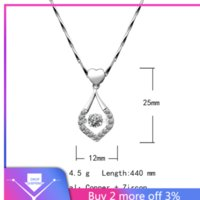 Wholesale pendant neckless resale online - Necklaces Jewelry Beads Water Drop Necklace Clavicle Chain Item Cutout Micro Inlaid Zircon Heart Pendant chain neckless