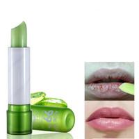 Wholesale lips protection resale online - Aloe Vera Makeup Moisturizing Color Changing Nutritious Lipstick Lips Care Protection Lip Balm Discolor lip Gloss