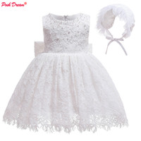 Wholesale new dream wedding dress resale online - POSH DREAM White Baptism First Birthday Toddler Girls Dress Blue New Year Baby Girls Christmas Dresses Wedding Dresses for Baby