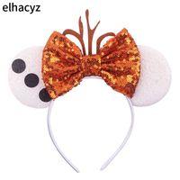 2020 Hot Glitter Mouse Ears Headband Women Easter Ear Sequin Bow Hair Band Girls Hair Accessories Headbands Mujer