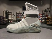 Wholesale glow footwear resale online - AIR Mags Back to Future Marty McFlys Sneakers Glow In The Dark Men Outdoor Shoes Footwear Mag Glow Sneaker Gray Black Red With box