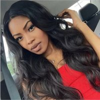 Wholesale wavy silk base wig online - 8A Grade Wavy Silk Base Wigs Glueless Silk Top Full Lace Wig Lace Frontal Human Hair Wig Body Wave With Baby Hair