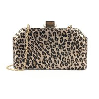 ingrosso borse da sera stampa animale-Abito da sera per le feste leopardo stampa animalier borse per signora