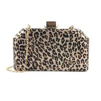 sacos de noite de impressão animal venda por atacado-Animal print leopardo vestido de festa de noite embreagens sacos para senhora
