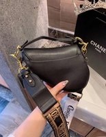 selles florales achat en gros de-DIOR Womens sac à main nouvelle lettre sac à bandoulière haute qualité en cuir véritable Messenger sac de selle de luxe 009