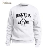 sudadera con capucha hogwarts al por mayor-Hogwarts Inspired Magic Alumni Hoodie Hombres Pullover Sudadera 2019 Winter Autumn Fleece Cálido Sudaderas de Manga Larga Ligeras