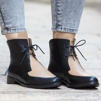 Wholesale size footwear sale resale online - Hot Sale Plus Size Ankle Boots Women Platform Lace Up Buckle Shoes Low Heel Short Boot Ladies Casual Footwear Women Booties Drop Shipping