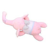 Wholesale kawaii bedding resale online - 1pc Lovely Elephant Plush Toys Soft Kids Beauty Animal Doll Stuffed Elephant Pillow Room Bed Decoration Toys Kawaii Gift epacket