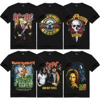 faixa de camiseta venda por atacado-T-shirt para Rock Band homens famosos de impressão de manga curta preta T-shirts Unisex Clube camiseta 100% algodão Plus Size Homens HAH0301 Hip Hop