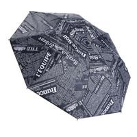 kinder schwarze regenschirme großhandel-Weinlese-Zeitungs-Regenschirm-Regen-Frauen-Bleistift-Minikind-Regenschirm-faltender beständiger Sonnenschirm-regnerische Frauen-Regenschirm-Haushalts-Diverses geben Schiff frei