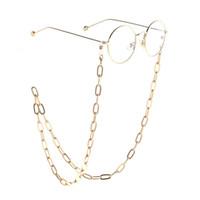 JGL0026 2020 design Gold metal thick glasses chain Eyeglass Lanyard Sunglasses Necklace Cord Neck Strap Holder Eye wear jewelry