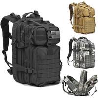 ordu yürüyüş çantaları toptan satış-Taktik Taarruz Paketi Sırt Çantası Askeri Ordu Molle Açık Yürüyüş Kamp Av Balıkçılık Çanta Su geçirmez Küçük Sırt Çantası