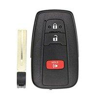 caso para controles de carro venda por atacado-2 + 1Buttons Smart Car Remote Control Key Caso Shell Com