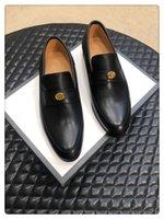 homens sapatos de lazer preço venda por atacado-2019ss moda masculina de lazer de negócios sapatos baratos preço de luxo verdadeiro couro lazer homens sapatos tamanho 38-44