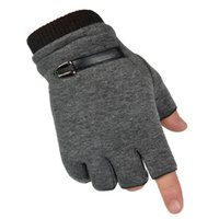 Cotton Men Black Knitted Stretch Elastic Warm Mezze dita Guanti senza dita  Guanti senza dita Donna Inverno Nitted Mezza dita 8246fba4bc45