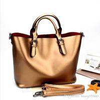 Wholesale leather lash resale online - 100 genuine leather handbag new fashionable leather shoulder bag aslant portable lash OL leather handbag