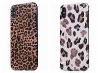 funda iphone piel animal al por mayor-Funda de TPU suave de leopardo para Iphone XS MAX X 10 8 7 6 Samsung Note 10 Pro S10 S10e S9 S8 Animal de lujo colorido de moda teléfono móvil cubierta de la piel