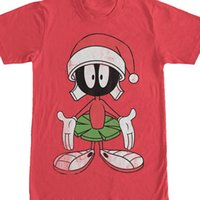 rabatt menssommerhemden großhandel-2019 Sommer Herren Marke Großhandel Rabatt O Neck Looney Tunes Weihnachten Marvin The Martian Mens Graphic T-Shirt