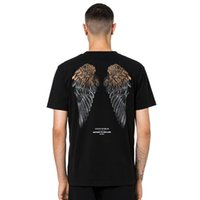Wholesale shirt wings online – design 19SS Marcelo Burlon MB County Of Milan T shirt Men Women Casual Fashion Feather Wings Printed Short Sleeves Summer Street Tee OS HFYMTX456