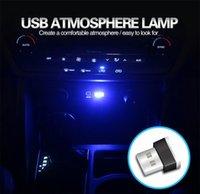 auto-stecker led-leuchten großhandel-USB Auto LED Atmosphäre Lichter dekorative Lampe Notbeleuchtung Universal für PC tragbare PDA Plug and Play