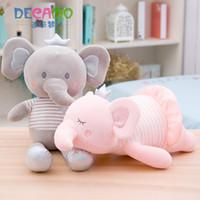 felpa de san valentín al por mayor-Lady Elephant Stuffed Animal Plush Toys Pillow Car Decoration Cute Valentine's Day Gifts Hot Toys Dolls Envío gratis
