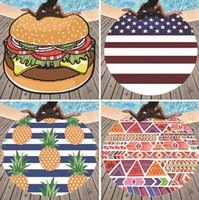 Wholesale round polyester scarf online - Summer Round Beach Towel for Women Polyester Beach Shawl scarf Swim Sunbathing Blanket outdoor Picnic mat MMA1587