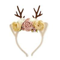 erwachsene plastikstirnbänder groihandel-Weihnachten Geweih Stirnband Plastikblumentuchmaterial erwachsene Kinder können Weihnachten Maskerade Stirnband bringen