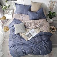 Wholesale black rose bedding set resale online - Nordic Deer Pineapple Geometric Bed Cover Set Cartoon Duvet Cover Bed Sheets And Pillowcases Comforter Bedding Set