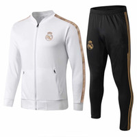 neue sportbekleidung großhandel-neue 2019/2020 Real Madrid Trainingsanzug Erwachsenen Fußball-Chandal Maillot De Foot Trainingsanzug 2019/20 Erwachsenen Trainingsanzug Survêtement Sportswear