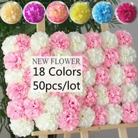 Wholesale lighting for photo for sale - Group buy 50pcs cm Big Chrysanthemum Ball Flower Head Artificial Silk Flower Ball for Wedding Party Photo taking Background