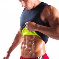 schlankes körperformhemd für männer großhandel-Mens Neopren Abnehmen Weste Hot Gym Power Gürtel Body Shapewear Running Tank Top Männer Bauch Former Shirt Fitness Sport Kleidung