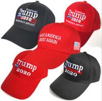 Wholesale trendy baseball caps for sale - Group buy Trendy women Trump baseball caps summer adjustable embroider sunhat hot sale unisex beach sunshade black ball hat