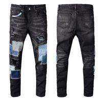 sıcak ince toptan satış-sıcak satış Yeni Erkek Sıkıntılı Erkekler Moda Tasarımcısı Hip Hop Erkek Jeans İyi Kalite için Biker Jeans Slim Fit Biker Motosiklet Denim Ripped