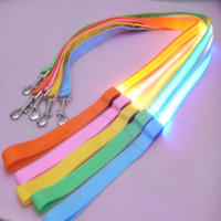 Wholesale led lighted dog leash for sale - Nylon LED Light Up Dog Leash Night Safety LED Flashing Glow In Dark Dog Collar Pet Supplies Cat Drawing Small Lead LED Dog Leash
