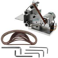 Wholesale edge cutters resale online - Multifunctional Grinder Mini Electric Belt Sander Diy Polishing Grinding Machine Cutter Edges Sharpener Belt Grinder Sanding