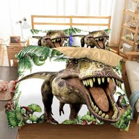 Wholesale bedspreads for king sized beds for sale - Group buy Cilected D Dinosaur Duvet Cover Set With Pillowcases King Queen Bedding Size Animal For Kids Bedroom Bedspreads