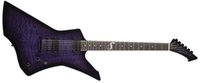 guitarra electrica china hecha al por mayor-Custom LTD James Hetfield Snakebyte barítono Trans púrpura guitarra eléctrica guitarras de la firma Negro púrpura Explorador hecha China