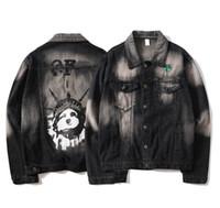 xxl jeans para mujeres al por mayor-Diseñar chaquetas de mezclilla de moda marca OFF mens chaqueta negro diosa gratis imprimir chaqueta BLANCA tendencia montar chaqueta damas piloto jean chaqueta M-XXL