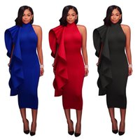 140fff912f2 Women Red Two Pieces Sets lace-up sexy off-shoulder Crop Top with long  split Maxi Skirts dress Set Casual Summer bohemian Beach holiday suit