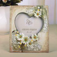 15 resim çerçevesi toptan satış-Hediye etiketleri Rustik Resim Çerçevesi papatya Dekor reçine Anne Hediye Düğün Doğum Günü Hediye # 15 için Çerçeveleri
