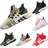 ayakkabı yap toptan satış-2019 EQT Bask 2.0 Primeknit Rahat Botlar EQT Bask 2.0 Mix Kauçuk Dahili Tampon Köpük Orta Üst Rahat Ayakkabı