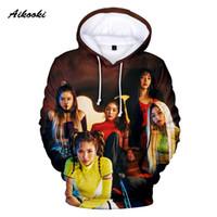 kız moda hoody toptan satış-Aikooki Kpop Kırmızı Kadife Hoodies Tişörtü Erkek / Kadın Hoody Kazak Moda Kapüşonlu Erkek K-pop Kırmızı Kadife Erkek / Kız Kirleticiler