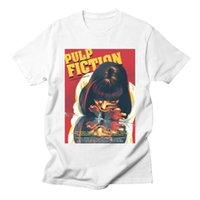 camisetas de personajes al por mayor-Pulp Fiction para mujer personalizada T Shirts carácter impreso del estilo caliente Manga corta cuello redondo camisas de la manera camisetas para mujer