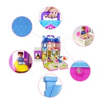 Wholesale child toys china for sale - Group buy toys for children big large dolls house miniatures miniature dollhouse accessories kit cute mini kids model china Furniture