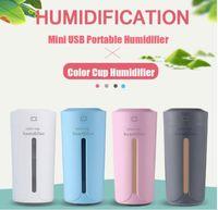 ambientador de aromaterapia al por mayor-DHaws 230 ml Humidfier de aire USB purificador de aire ambientador LED aromaterapia difusor fabricante de niebla para el hogar Auto Mini coche humidificadores