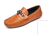 Wholesale loafer moccasin flat shoes for sale - Group buy New Fashion Men Loafers Shoes Leather Mens Summer Shoe Flats Spring Men Casual Shoes Slip On Lazy Driving Moccasins Shoes H103