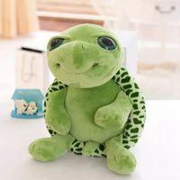 cosas de tortuga al por mayor-Nueva muñeca de felpa de 20 cm Super Green Big Eyes Stuffed Tortoise Turtle Animal Plush Baby Toy Gift EEA521